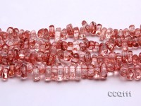 Wholesale 6x9x12mm Red Synthetic Quartz Chips Loose String