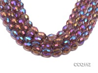 Wholesale 12x15mm Oval Colorful Faceted Synthetic Quartz Beads Loose String