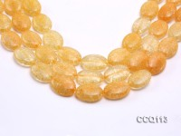 Wholesale 18x25mm Oval Orange Synthetic Quartz Beads Loose String