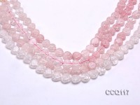 Wholesale 11x11mm Heart-shaped Pink Synthetic Quartz Beads Loose String
