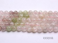 Wholesale 11mm Round Colorful Synthetic Quartz Beads Loose String