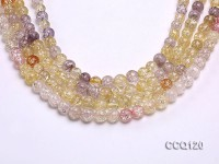 Wholesale 9mm Round Colorful Synthetic Quartz Beads Loose String