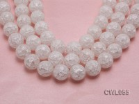 Wholesale 20mm Round Inner-cracked Faceted Rock Crystal Beads Loose String