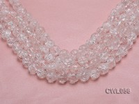 Wholesale 14mm Round Inner-cracked Faceted Rock Crystal Beads Loose String