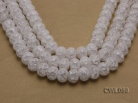 Wholesale 13x18mm Wheel-shaped Inner-cracked Faceted Rock Crystal Beads Loose String