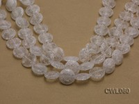 Wholesale 20mm Button-shaped Rock Crystal Beads Loose String