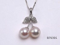 Selected 7mm White Round Natural Akoya Pearl Pendant with 18k Gold Bail