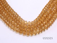 Wholesale 10x13mm Light-yellow Faceted Synthetic Quartz Beads Loose String