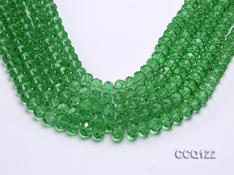Wholesale 10x13mm Green Faceted Synthetic Quartz Beads Loose String