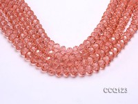 Wholesale 10x13mm Pink Faceted Synthetic Quartz Beads Loose String