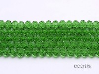 Wholesale 10x7mm Green Faceted Synthetic Quartz Beads Loose String
