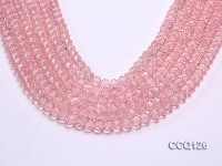 Wholesale 10x7mm Pink Faceted Synthetic Quartz Beads Loose String