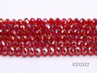 Wholesale 10x7mm Red Faceted Synthetic Quartz Beads Loose String