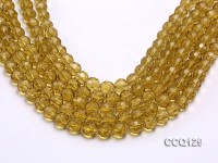 Wholesale 10mm Round Faceted Synthetic Quartz Beads Loose String