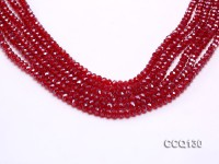 Wholesale 4x6mm Red Faceted Synthetic Quartz Beads Loose String