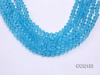 Wholesale 6.5mm Blue Faceted Synthetic Quartz Beads Loose String