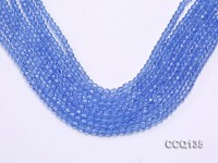Wholesale 4.5mm Blue Faceted Synthetic Quartz Beads Loose String