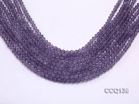 Wholesale 4.5mm Purple Faceted Synthetic Quartz Beads Loose String