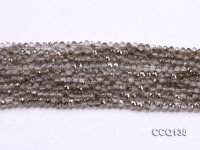 Wholesale 3×4.5mm Gray Faceted Synthetic Quartz Beads Loose String