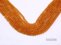 Wholesale 4.5mm Orange Faceted Synthetic Quartz Beads Loose String