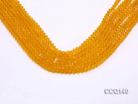 Wholesale 4.5mm Yellow Faceted Synthetic Quartz Beads Loose String