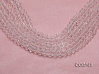 Wholesale 6.5mm White Faceted Synthetic Quartz Beads Loose String