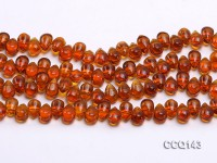 Wholesale 6x9mm Drop-shaped Synthetic Quartz Beads Loose String