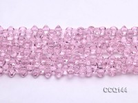 Wholesale 6x7mm Pink Synthetic Quartz Beads Loose String