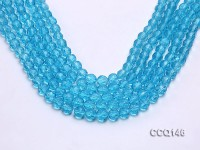Wholesale 8mm Round Blue Faceted Synthetic Quartz Beads Loose String