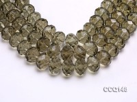 Wholesale 13x17mm Oval Faceted Synthetic Quartz Beads Loose String