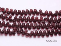 Wholesale 6x9mm Drop-shaped Dark-red Synthetic Quartz Beads Loose String