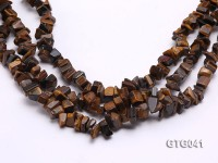 Wholesale 9x10mm Irregular Tiger Eye Chips Loose String