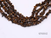 Wholesale 5-10mm Irregular Tiger Eye Chips Loose String