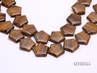 Wholesale 30mm Star-shaped Tiger Eye Pieces Loose String