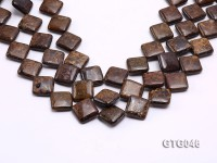 Wholesale 20mm Square Tiger Eye Pieces Loose String