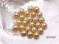 14-15mm Golden Round South Sea Pearl