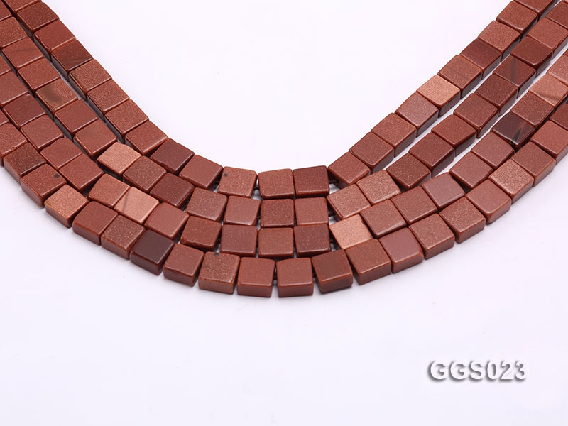 Wholesale 5x10x10mm Square Goldstone Beads Loose String