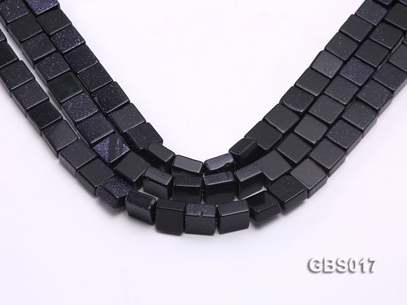 Wholesale 5x10x10mm Square Blue Sandstone Beads Loose String
