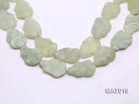 Wholesale 25x35mm Irregular Green Faceted Prehnite Pieces Loose String