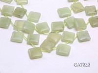 Wholesale 20mm Square Green Prehnite Pieces Loose String