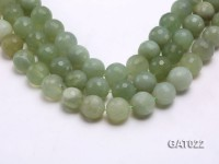 Wholesale 18mm Round Green Faceted Prehnite Beads Loose String