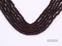 Wholesale 5.5mm Flat Garnet Beads Loose String