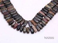 Wholesale 8x8x20mm Multi-color Tourmaline Chips Loose String