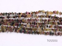 Wholesale 4-6mm Irregular Multi-color Tourmaline Chips Loose String