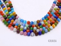Wholesale 8mm Round Colorful Cat's Eye Beads Loose String