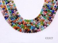 Wholesale 6mm Round Colorful Cat's Eye Beads Loose String
