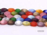 Wholesale 8x15mm Irregular Colorful Cat's Eye Beads Loose String