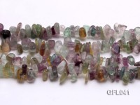 Wholesale 6x13mm Irregular Multi-color Fluorite Chips Loose String