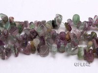 Wholesale 6x15mm Irregular Multi-color Fluorite Chips Loose String