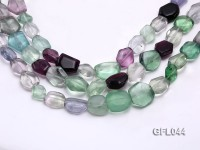 Wholesale 13x16mm Irregular Multi-color Fluorite Beads Loose String